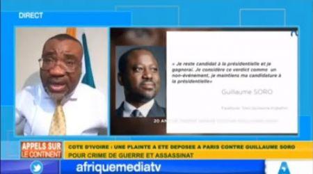 PLAINTE CONTRE SORO A PARIS: Dr. BOGA DE LA FIDHOP EXHORTE Mr. SORO A DEVOILER TOUTE LA VERITE.
