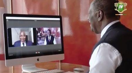 Visioconférence entre le président Alassane Ouattara et le premier ministre Gon Coulibaly