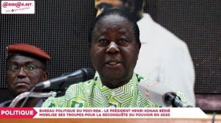 Bureau politique du PDCI-RDA : Le président Henri Konan Bédié mobilise ses troupes...