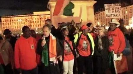 Meeting à Lyon le 29 décembre 2012 pour exiger la libération de Michel Gbagbo