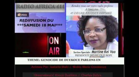 MARTINE KEI VAO SUR RADIO AFRICA 411 LE 18 MAI NEW YORK