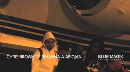 Arrivée Breezy et Rihanna à Abidjan