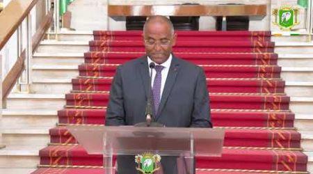 Déclaration du Secrétaire Général de la Présidence de la République